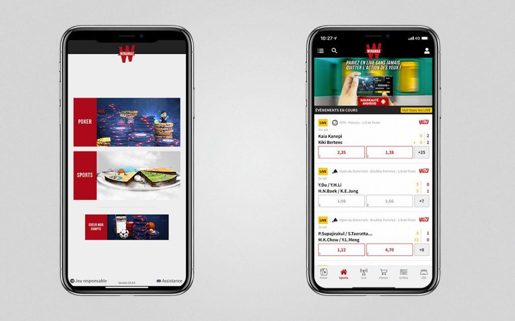 Winamax mobile app